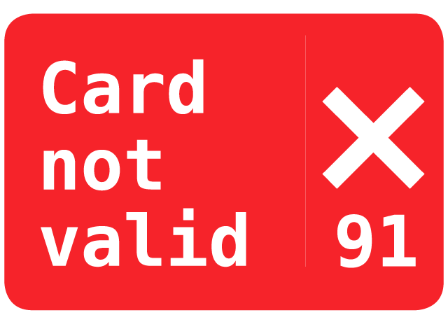 Opal Card Not Valid Error 91